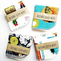 Still have some cloth wipes in stock!  5 wipes for $15 made with soft terry cloth on one side.  #ClothWipes #EcoBaby #MauiBoutique #MauiMaternity #MauiBaby