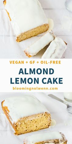 Almond Flour Lemon Cake: a delicious light and fluffy cake that is very easy to make and only requires a few ingredients. Vegan gluten-free oil-free and refined sugar-free. The post Almond Flour Lemon Cake Healthy Vegan Dessert, Healthy Cake, Vegan Treats, Vegan Snacks, Healthy Cookies, Gluten Free Cakes, Gluten Free Baking, Gluten Free Recipes, Sugar Free Cakes