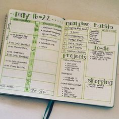 My weekly layout keeps me focused and is really the heart of my #bulletjournal system.