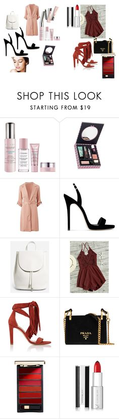 """""""Business or Outdoor?"""" by anikivance ❤ liked on Polyvore featuring By Terry, Benefit, Giuseppe Zanotti, Everlane, Chloé, Prada, L'Oréal Paris and Givenchy"""
