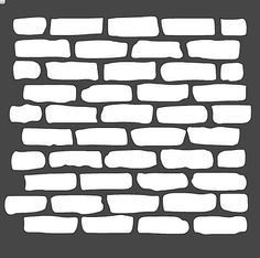 Bricks Stencil 12x12 by HouseofDavis on Etsy