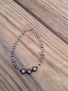 My eBay Active Ankle Bracelets, Bangles, Stone Beads, Glass Beads, Handmade Bracelets, Beaded Bracelets, Drunk Friends, Make And Sell, Black Silver