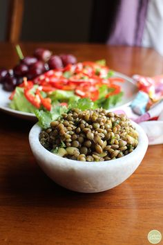 Best marinated lentils recipe + Oh She Glows Every Day review and giveaway | cadryskitchen.com #vegan