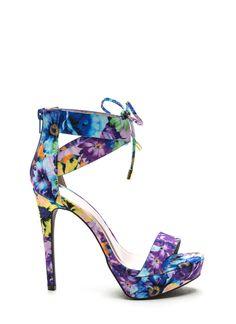Hi Life Floral Platform Heels from GoJane