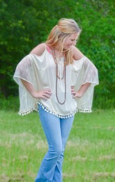Paperdoll - Natural Lace and Crochet Top, $38.95 (http://www.paperdollchick.com/natural-lace-and-crochet-top/)