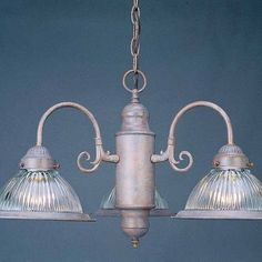 "Volume Lighting V4713 Roth 3 Light 14"" Height 1 Tier Chandelier"