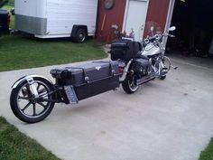 Teardrops n Tiny Travel Trailers Motorcycle Towing, Motorcycle Shop, Motorcycle Camping, Moto Bike, Trailer Build, Bike Trailer, Pull Behind Motorcycle Trailer, Homemade Trailer, Bicycle Sidecar