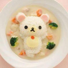 food, kawaii, and rilakkuma imageの画像 Kawaii Bento, Cute Bento, Japanese Food Art, Cute Japanese, Japanese Lunch, Bento Recipes, Baby Food Recipes, Kawaii Cooking, Cute Desserts