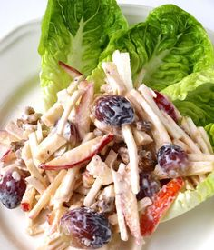 CHEZ LUCIE: Salát Waldorf Fat Burning Foods, Healthy Alternatives, Cabbage, Salads, Sandwiches, Weight Loss, Vegetables, Cooking, Diet