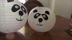 Panda Lantern Decorations - YouTube Lantern Decorations, Panda Birthday, Youtube, Youtubers, Youtube Movies
