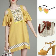 Shopping: look mostaza - Temporada: Primavera-Verano - Tags: fashion, shopping, look, moda, style, fashion - Descripción: look mostaza boho chic