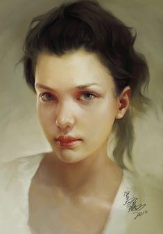 girl portrait by crow-god.deviantart.com