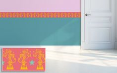 tiger border for kids room by e-glue - choice of colors