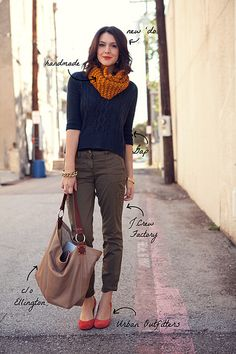 Cropped Pants and Slouchy Sweater