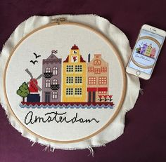 Amsterdam cross stitch