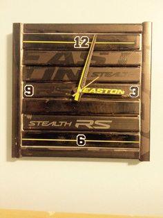 Hockey Stick Clock by WarriorCustoms on Etsy