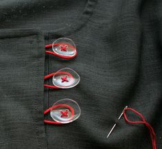 I wonder if these buttons could be made from plastic bottles. I think they could.