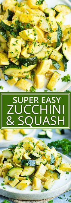 Healthy, Easy Zucchini Squash Recipe | Have a delightful side dish of sauteed zucchini and squashready and on your dinner table in under 20 minutes. This easy and healthy zucchini squash recipe is gluten-free, dairy free, vegan, vegetarian, whole 30, and Paleo!