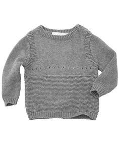 Stella McCartney Baby Grey Knitted Bunny Jumper