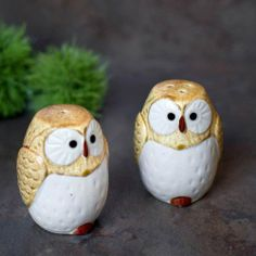 "Owl Salt & Pepper Shaker Set (Brown) by Kotobuki. $19.45. Capacity: 3 oz.. Rubber stop for quick and easy refilling.. Made in Japan.. Measures 3""H x 2""W.. Ceramic. Hand wash recommended.. Adorable owl shakers that make the perfect gift for your loved ones! They are wonderful addition to your table centerpiece. Great addition to any owl lover's collection. *For more information, please contact us before purchase."