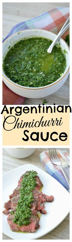 Learn how to make a traditional Chimichurri Sauce from Argentina