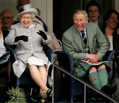Queen Elizabether & Prince Charles SO NICE TO SEE HER MAJESTY LAUGH SO HEARTLY
