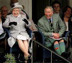 Queen Elizabether & Prince Charles