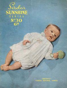 Sirdar sunshine 30 three designs baby matinee coat by Ellisadine, £1.15