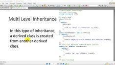 12-Inheritence Relationship Among Classes in OOP using C++ Object Oriented Programming, Language, Relationship, Education, Learning, Studying, Languages, Teaching, Onderwijs