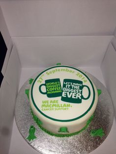 Made for Lindsey's Macmillan coffee morning.