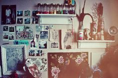 Hipster bedroom also with a dorm room ideas bed sheets decor style gallery decorations do Indie Bedroom Decor, Grunge Bedroom, Bedroom Ideas, Hipster Bedrooms, Bedroom Styles, Hipster Wall Decor, Tumblr Rooms, Room Goals, Life Goals