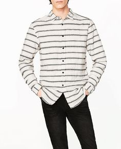 ZARA - MAN - STRIPED JACQUARD SHIRT