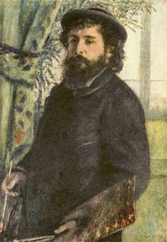 Claude Monet by Renoir, 1875