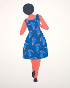 Geoff McFetridge: Meditallucination. On canvas. click through for artists vision & details