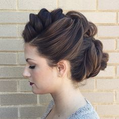 Casual, braided updo.