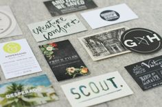 Business Cards via Paper & Stitch