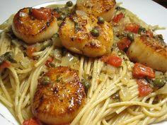 Seafood Dishes on Pinterest | Scallops, Shrimp and Baked Shrimp Scampi