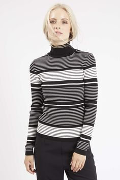 Photo 3 of Striped Roll Neck Sweater