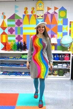Cassie Stephens: DIY: Needle Felted Rainbow Dress