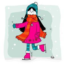 Lux hawaiana!   #lux #muñeca #pink #doll #ski #nieve #snow #winter #invierno #patin #frio #ilustration #ilustracion ver mas en FB: lux la muñeca
