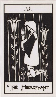 The Osborne Tarot Collection | Tarot of Aubrey Beardsley - The Heirophant