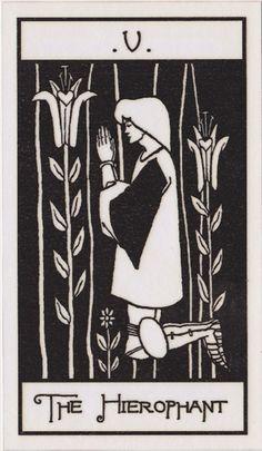 The Osborne Tarot Collection | Tarot of Aubrey Beardsley - The Heirophant