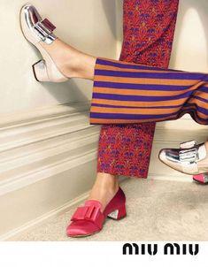 4ff4c7522899 Miu Miu shoes print mix of prints designer clothes outfit for Summer 2018