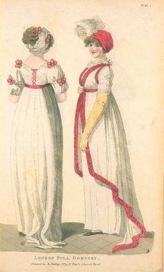 London Full Dresses, November 1801, Fashions of London & Paris