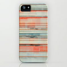 Red, White and Blue Abstract iPhone & iPod Case