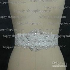 Wholesale Bridal Sashes & Belts - Buy Latest Sparkled Exqusite All Beaded Crystals Wedding Dress Belt Bridal Dress Sashes Wedding Accessoryy Like A Bow, $59.99   DHgate