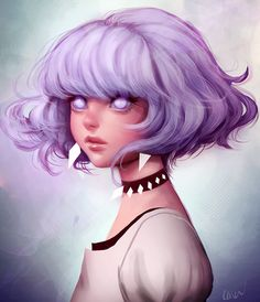 Find images and videos about art, anime and purple on We Heart It - the app to get lost in what you love. Pretty Art, Cute Art, Art Sketches, Art Drawings, Performance Artistique, L'art Du Portrait, Portraits, Art N Craft, Wow Art