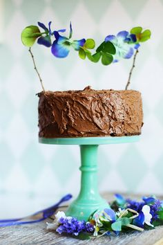 Chocloate Fudge Cake with DIY Topper