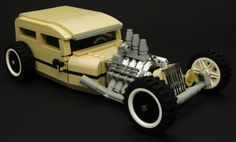 This Lego hot rod is sleek, slow and low