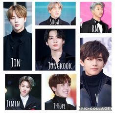 All of your favourite BTS members!!! Jungkook V, Bts Members